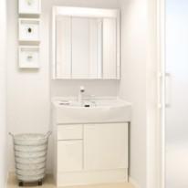 スッキリとしたシステム洗面化粧台